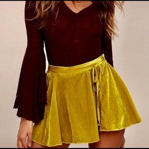 NWT Free People Dance the Night Away Wrap Skirt